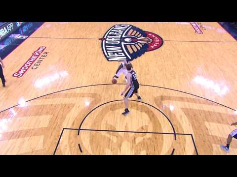 Jrue Holiday floater | Spurs vs Pelicans | 3.3.17 | 16-17 NBA Season