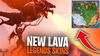 BRAND NEW LAVA LEGENDS SKINS - NEW LTM!! W/ NINJA, MARCEL - NATE HILL - Fortnite Battle Royale