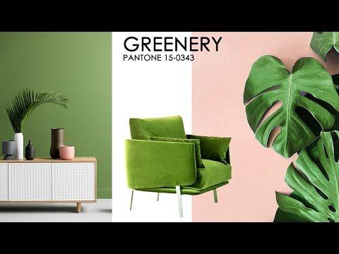Зеленый цвет в интерьере пантон 2017
