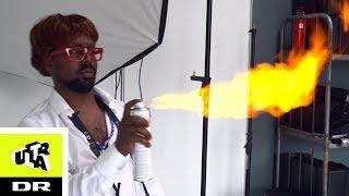 Får ansigtet smadret af flammekaster | Ultra Snydt