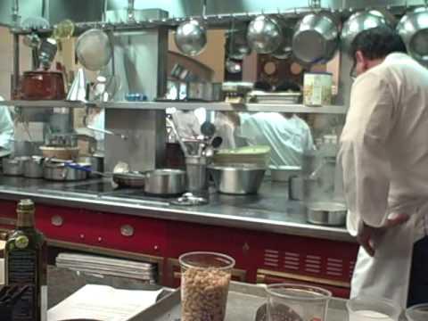 Chef Paul Bartolotta of Bartolotta Ristorante di Mare prepares Caramote Prawns with Cannellini Beans