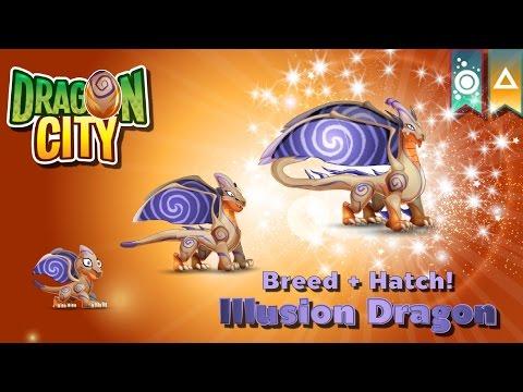 [Dragon City] ผสม + ฟักไข่มังกรภาพมายา Breed + Hatch Illusion Dragon  Ancient World  amSiNE