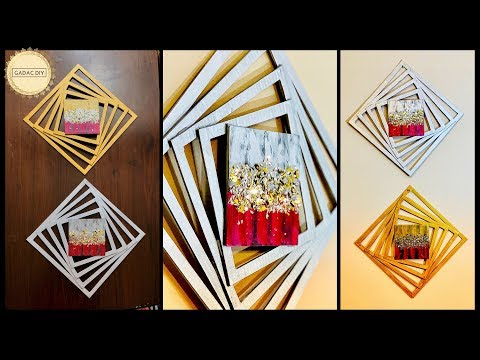 DIY Unique & Abstract Wall Art| gadac diy| home decorating ideas| handcraft| wall hanging|wall decor