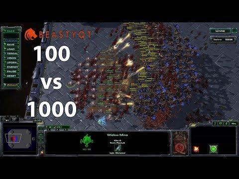 StarCraft 2: 1000 Mutalisks VS 100 Widow Mines!!