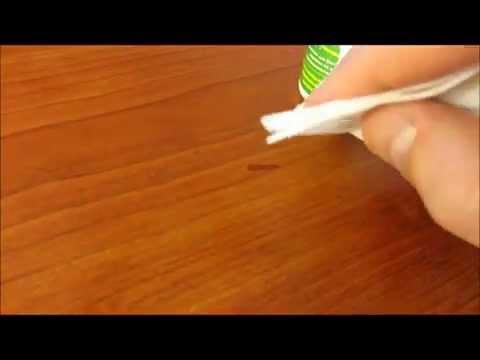 Как убрать царапину на мебели