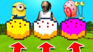 Minecraft PE : DO NOT CHOOSE THE WRONG CAKE! (Minion, Granny & Gary The Snail)