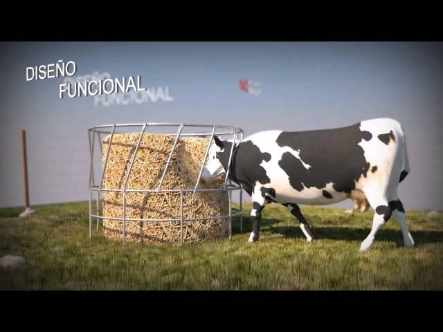 Comedero de ganado para fardos. Cow feeders bales.