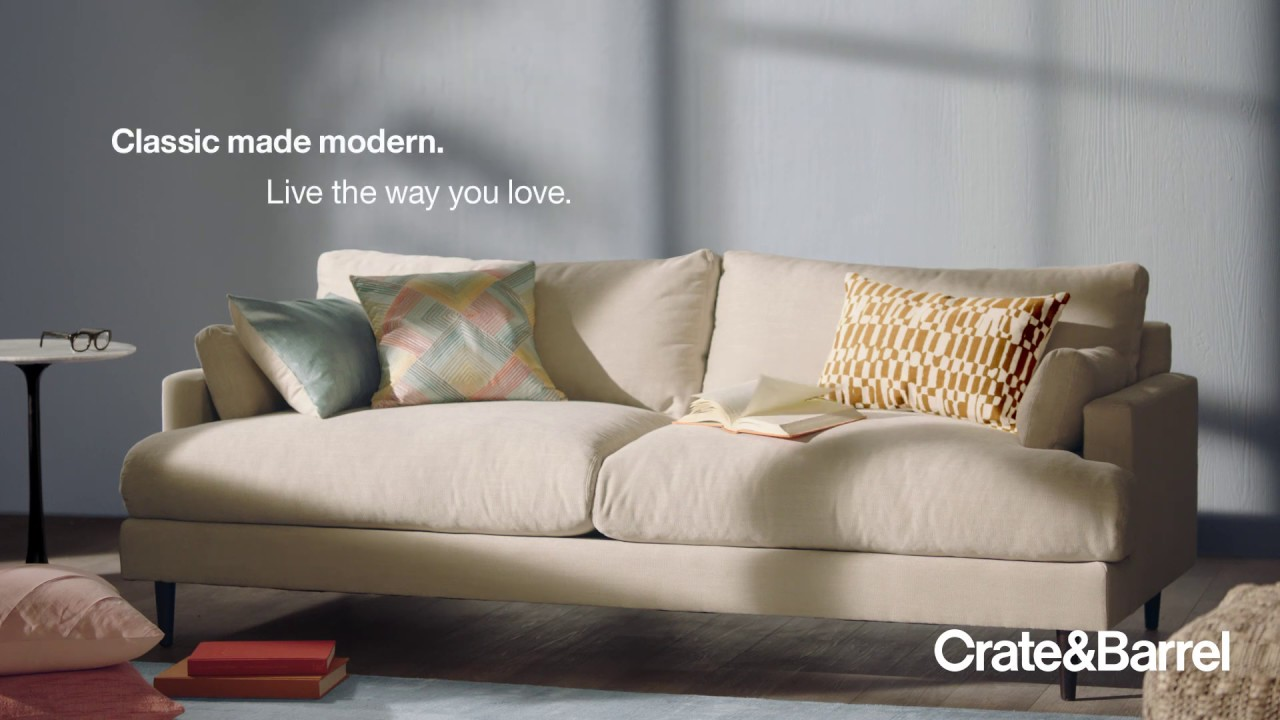 live the way you love monahan sofa from crate and barrel
