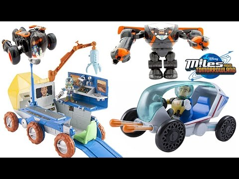 MILES FROM TOMORROWLAND MISSION ROVER SPACE LAB, SCOUT ROVER, EXO FLEX SUIT, FIGURINES