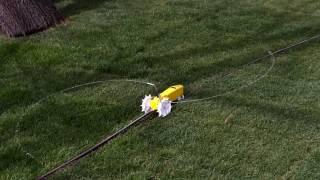 Nelson Raintrain 1865 traveling sprinkler doing its thing