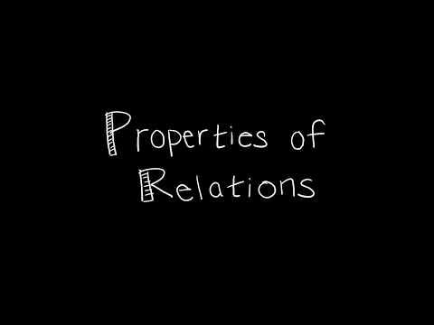Discrete Math 9.1.2 Properties of Relations