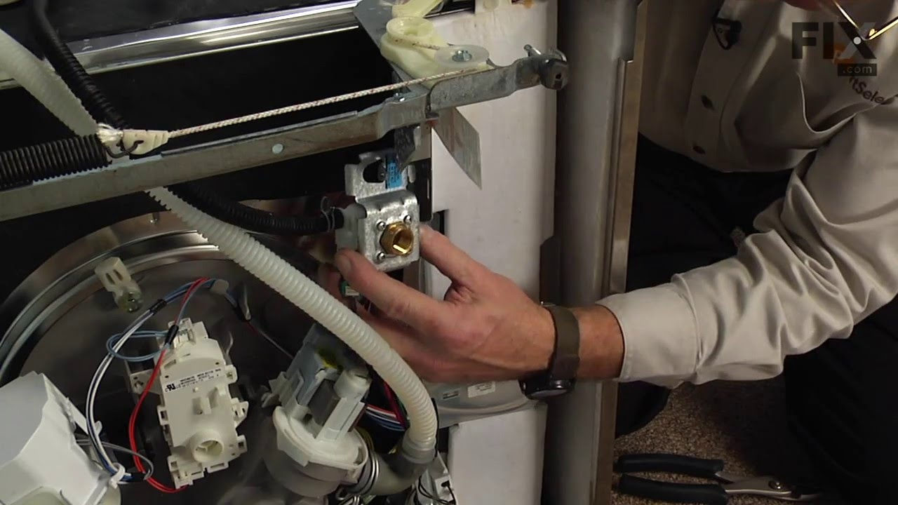 KitchenAid Dishwasher Repair  How to replace the Water Inlet Valve  YouTube
