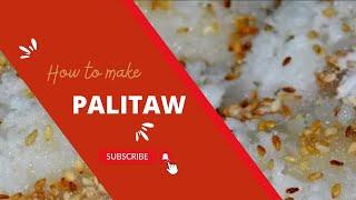 How To Make Palitaw (sweet Flat Rice Cake)