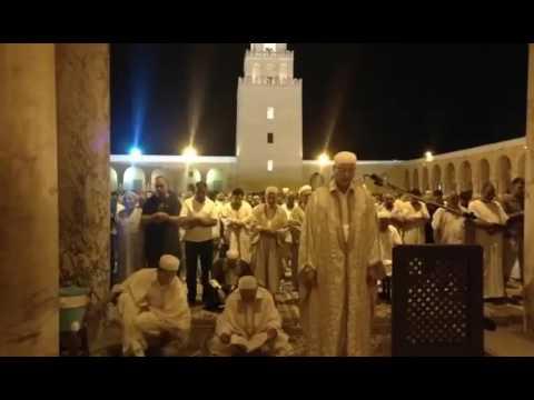 صلاة التراويح من جامع عقبة بن نافع القيروان تونس ليلة 20 رمضان 1438-2017