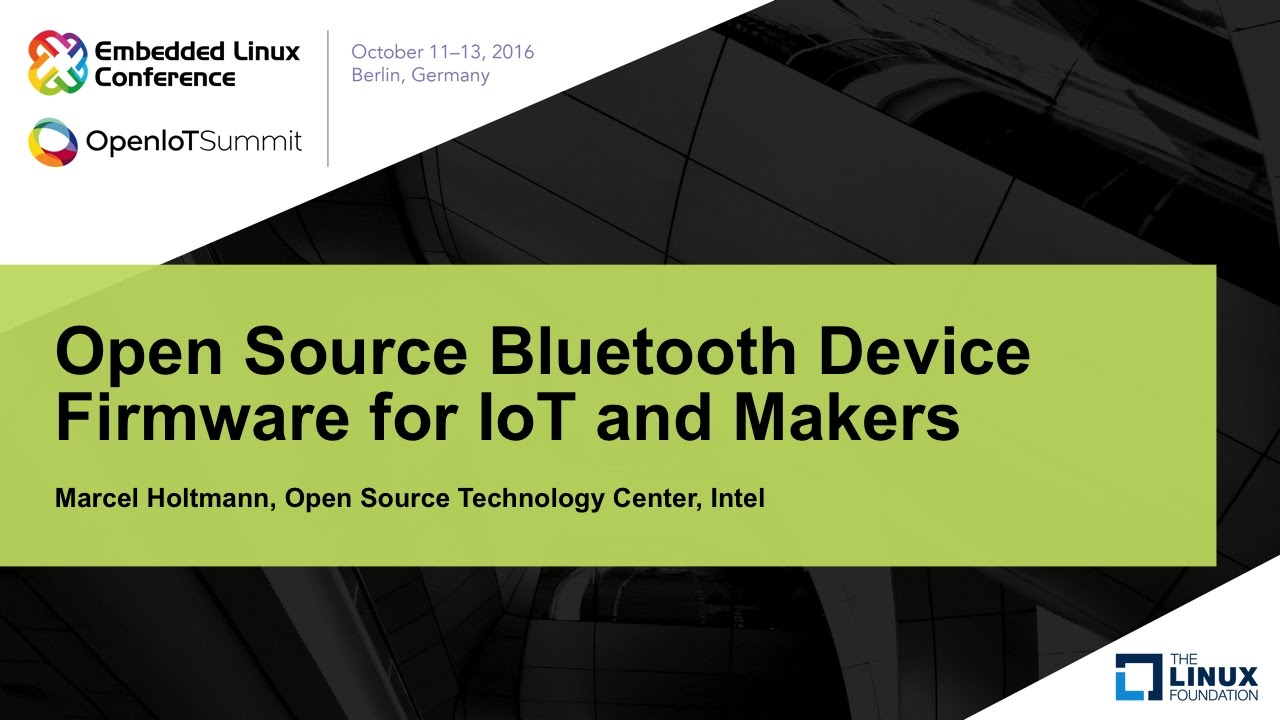 Open Source Bluetooth Device Firmware for IoT and Makers