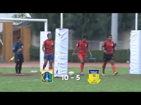 Kejurnas Rugby Indonesia 2017, Final Putra, DKI Jakarta vs Papua, Full Game