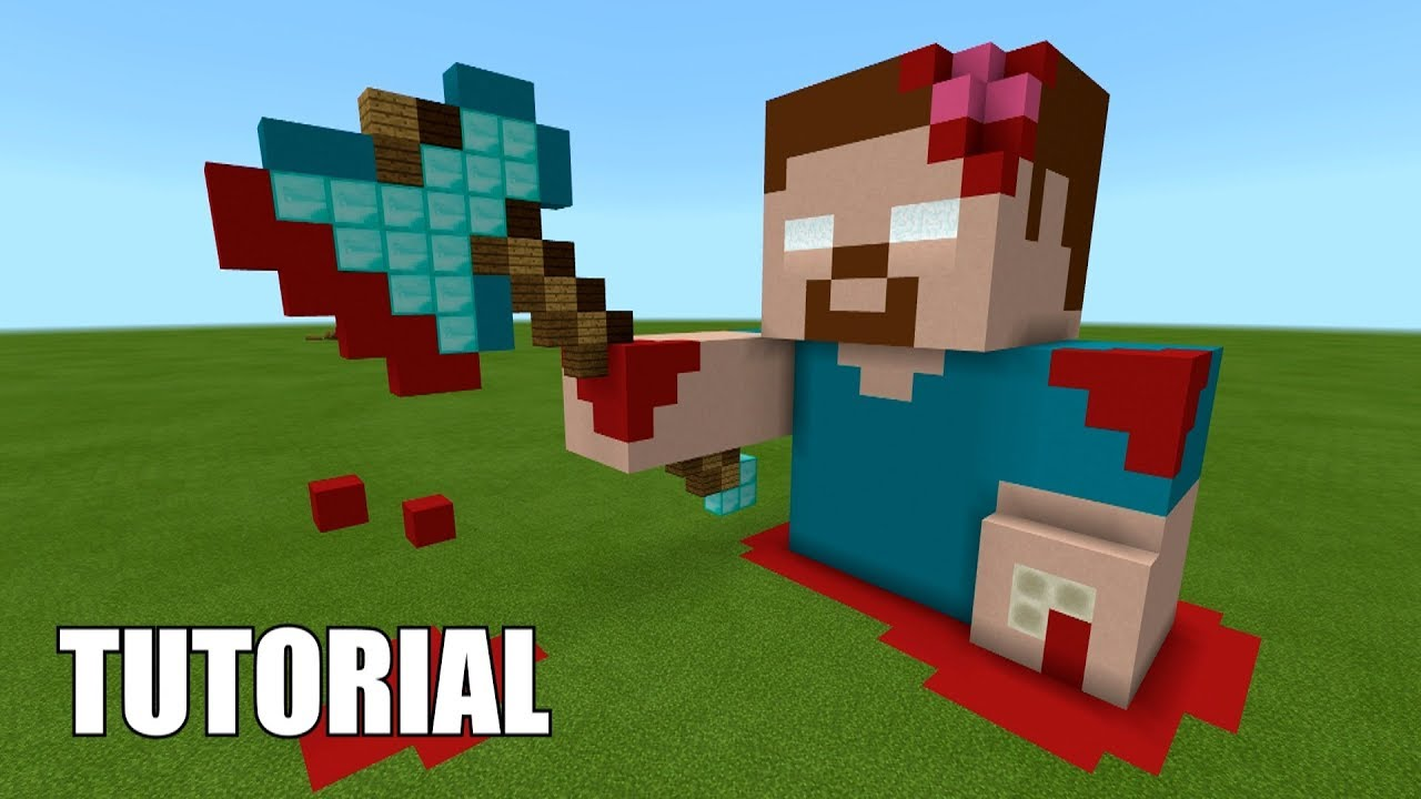 Minecraft Tutorial: How To Make A ZOMBIE HEROBRINE! RISING FROM THE DEAD!  (Survival House)
