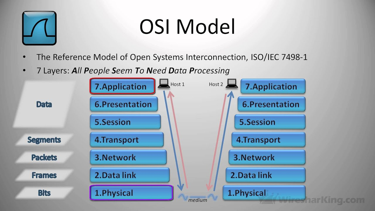diagram of osi reference model 2002 north star engine layers part 2 layer 1 and two hosts