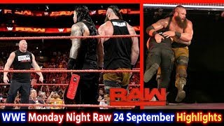 WWE Monday Night Raw 24th Sept 2018 Hindi Highlights Preview - Brock Lesnar vs Roman Reigns Results