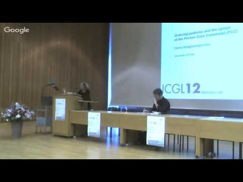 E. Anagnostopoulou: Ordering patterns and the syntax of the Person Case Constraint (PCC) (ICGL12)