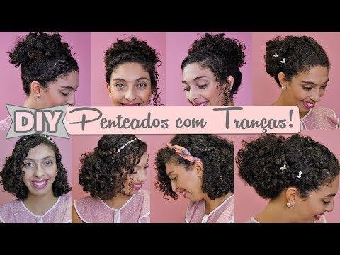 Diy Penteados Fáceis Com Tranças Para Cabelo Cacheado
