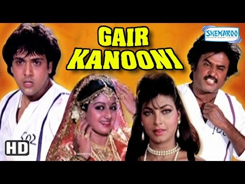 Gair Kaanooni {HD} - Govinda - Sridevi - Rajinikanth - 80s Hit Movie