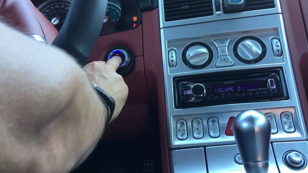 Push To Start Button Key On Chrysler Crossfire Mercedes Youtube 2005 Wiring Harness