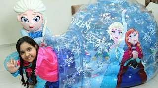 shfa Pretend Play with frozen igloo inflatable !!!