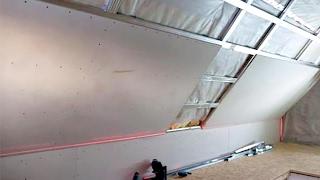 Как сделать гипсокартонные потолки на мансарде. 8 Серия.