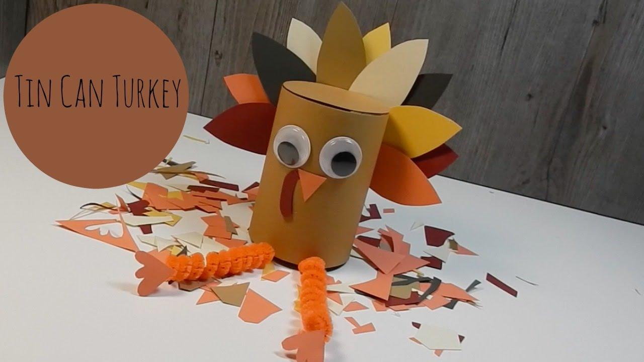 Thanksgiving craft tin can turkey easy kids diy youtube