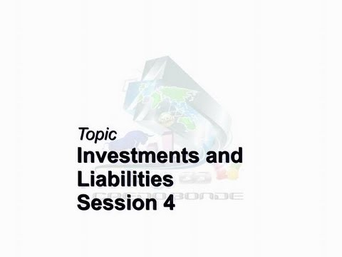 Credo Bonde Business Brief Session 4 Investments & Liabilities