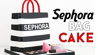 HOW TO MAKE A SEPHORA BAG CAKE + MAKEUP DECORATIONS ☆ TAN DULCE