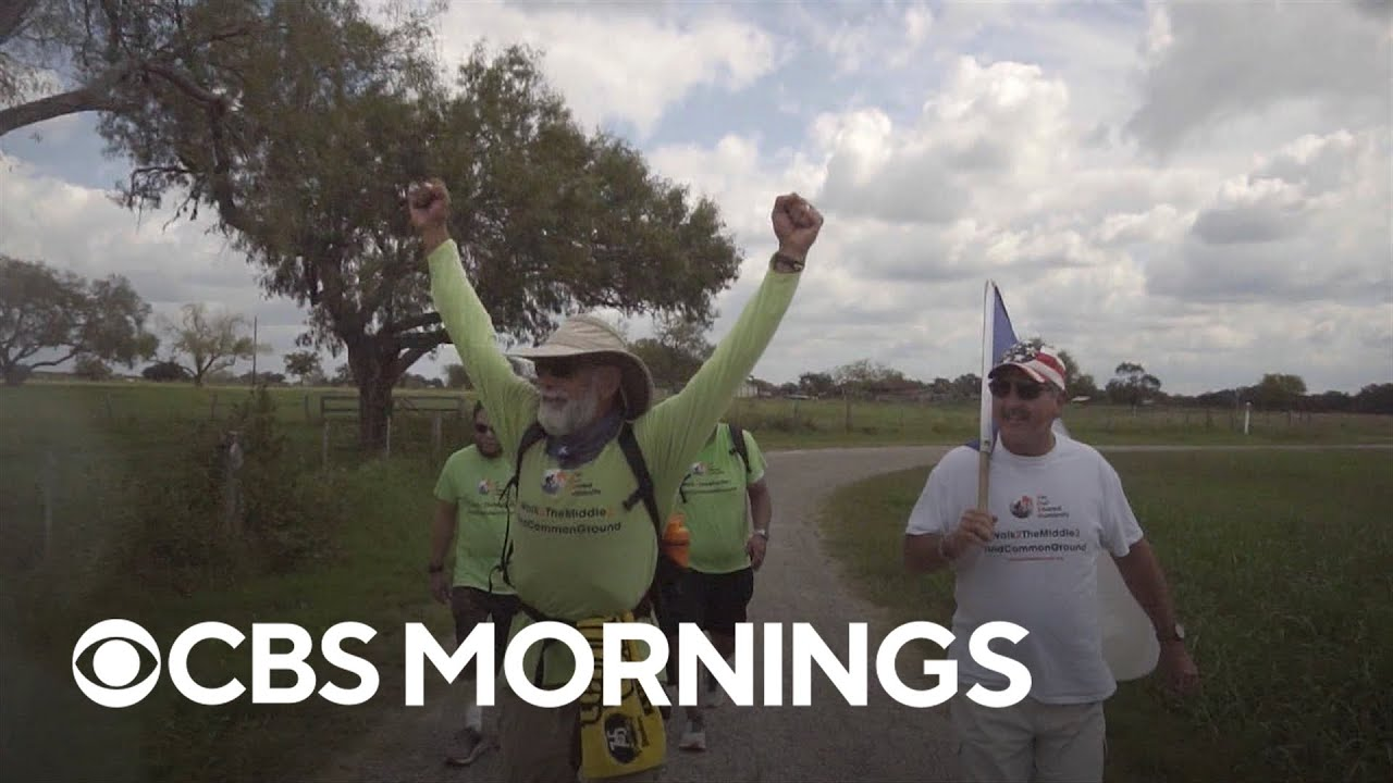 Retired hospitality worker walks from North Dakota to Texas to help Americans find common ground