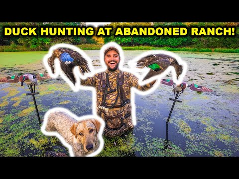 DUCK HUNTING at My ABANDONED Deer RANCH!!! (Catch Clean Cook)