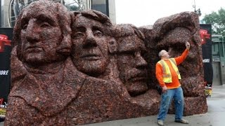 Company Celebrates National Jerky Day with Meaty Mount Rushmore
