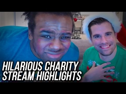 WWE 2K17 Charity Stream Highlights!! Face Slaps, Dog Food, Doing Makeup!! (ft Austin Creed)