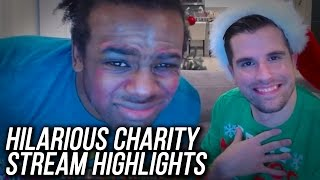 wwe 2k17 charity stream highlights face slaps dog food doing makeup ft austin creed
