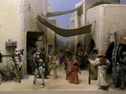 Gon Wallpaper 3d Star Wars Diorama Mos Eisley Market Place No Music