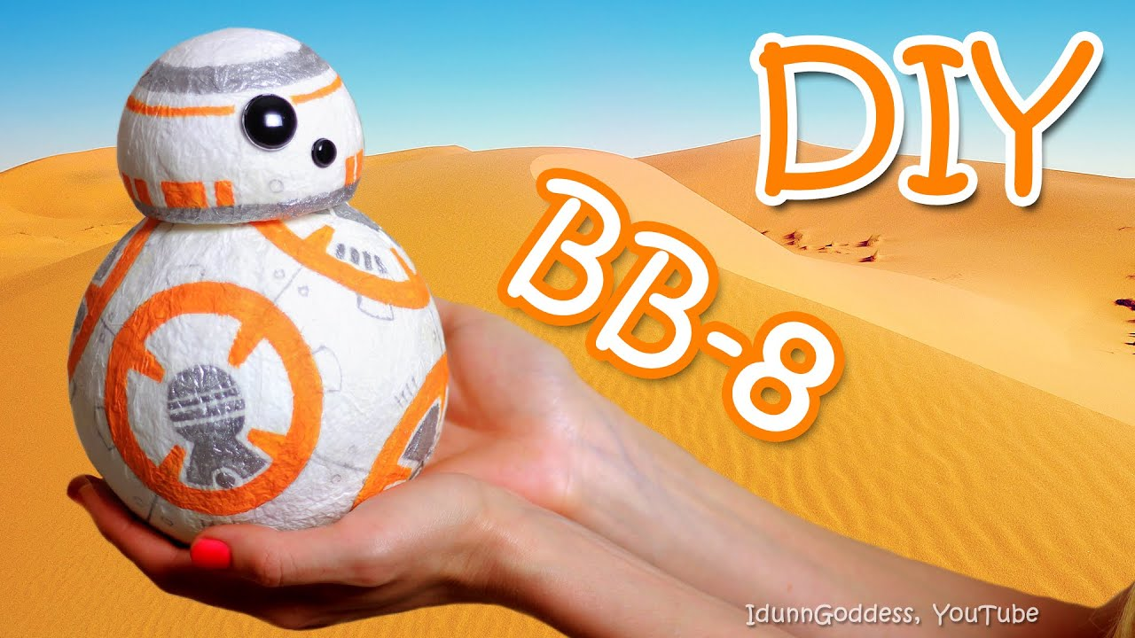 How To Make A BB 8 Money Box Out Of Paper Napkins U2013 DIY BB8 Droid From Star  Wars   YouTube