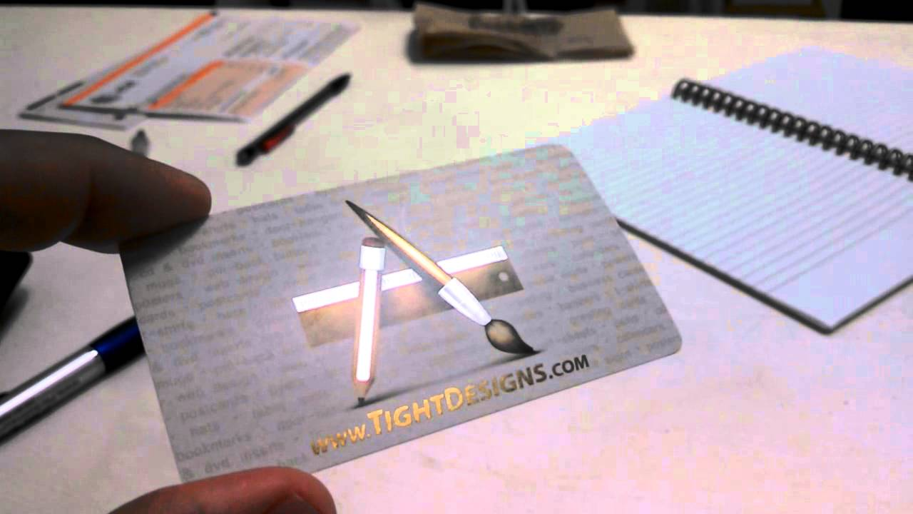 Metallic Business Cards with AkuaFoil by Tight Designs - YouTube
