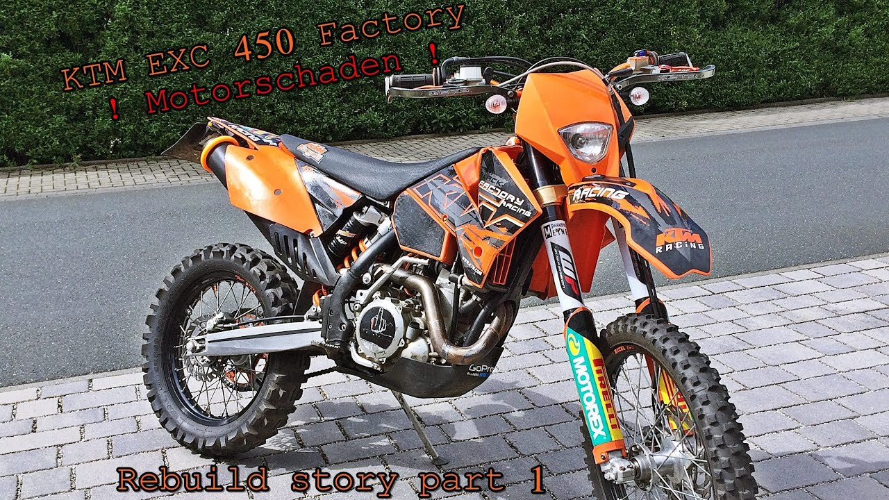 new bike ktm exc 450 rebuild motorschaden part 1 youtube. Black Bedroom Furniture Sets. Home Design Ideas