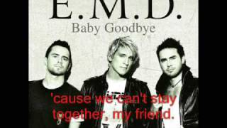 EMD - Baby Goodbye(Instrumental+lyrics)