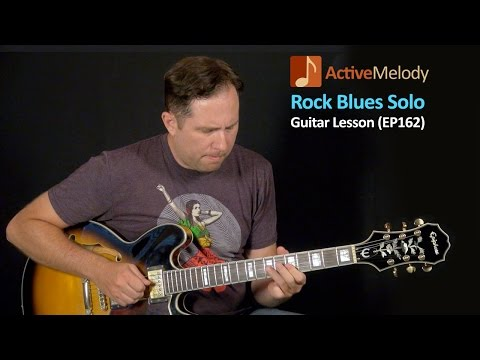 Rock Blues Guitar Lesson – Solo Blues Guitar – EP162