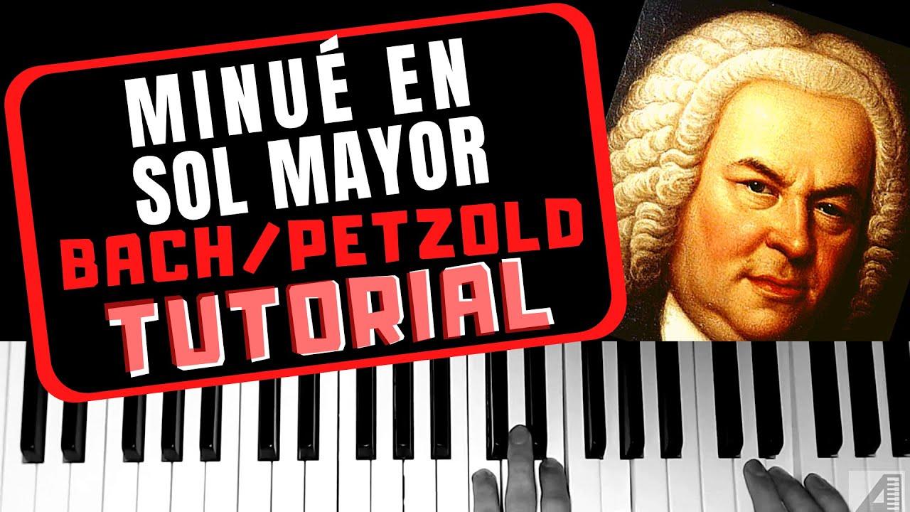 """Cómo tocar el """"Minué en Sol mayor"""" de Bach/Petzold en piano (tutorial)"""