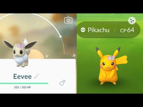 Shiny Flower Crown Eevee Pikachu Confirmed