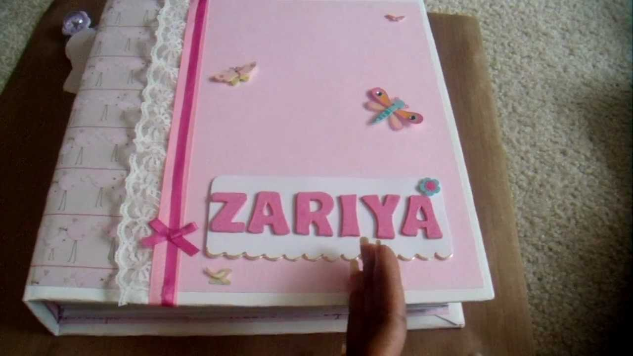 Book Cover Ideas For Girls : Baby girl scrapbook youtube