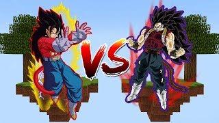 ILHA DO VEGETTO SUPER SAIYAJIN 4 VS ILHA DO CUMBER no MINECRAFT!! (DRAGON BALL HEROES)
