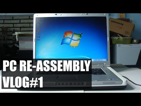 PC Re-assembly: Dell Inspiron 9300 (VLOG#1)