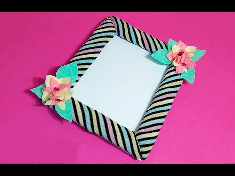 Super cute - Photo Frame. Ideas for gift!  DIY Plush photo frame! Easy DIY Christmas gift