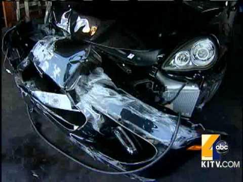 kanye west car crashes into house